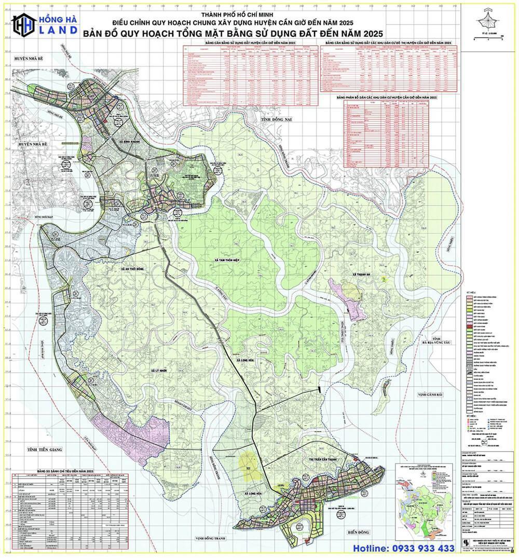Bản đồ quy hoạch Huyện Cần Giờ mới nhất 2020