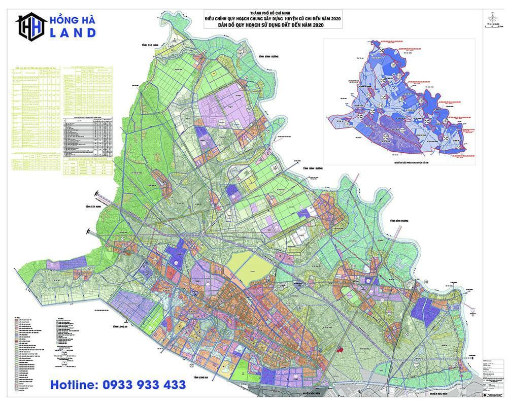 Bản đồ quy hoạch Huyện Củ Chi mới nhất 2020