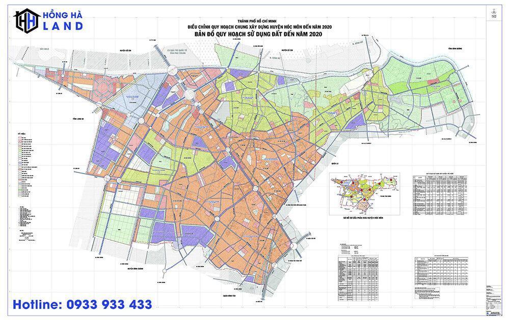 Bản đồ quy hoạch Huyện Hóc Môn mới nhất 2020