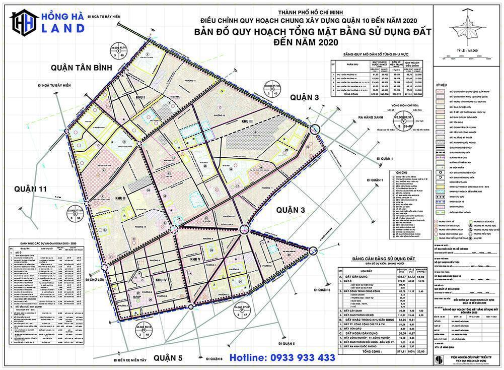 Bản đồ quy hoạch Quận 10 mới nhất 2020
