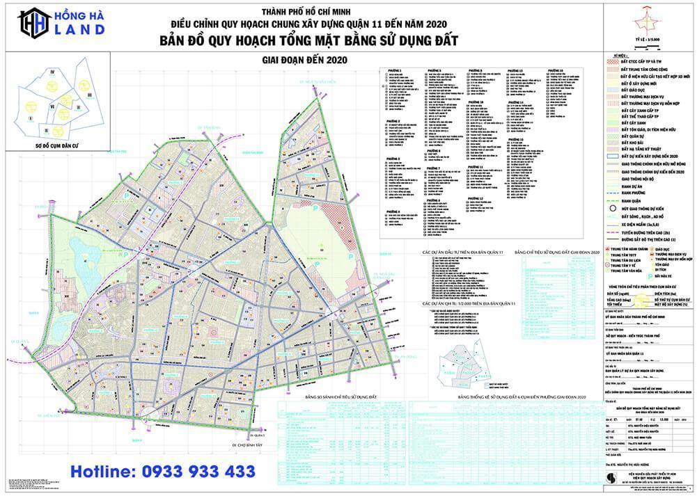 Bản đồ quy hoạch Quận 11 mới nhất 2020