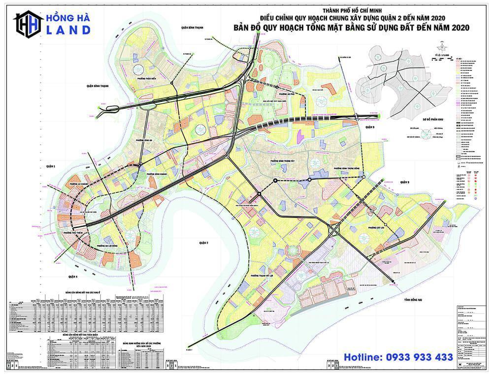 Bản đồ quy hoạch Quận 2 mới nhất 2020