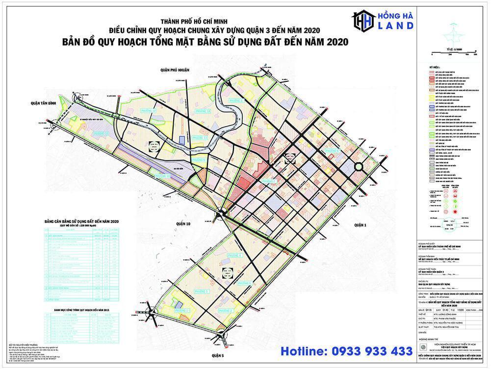Bản đồ quy hoạch Quận 3 mới nhất 2020