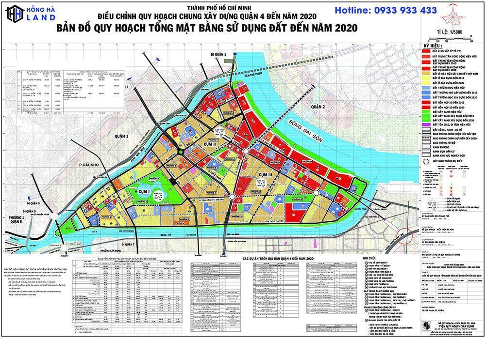 Bản đồ quy hoạch Quận 4 mới nhất 2020