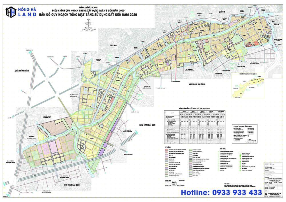 Bản đồ quy hoạch Quận 8 mới nhất 2020