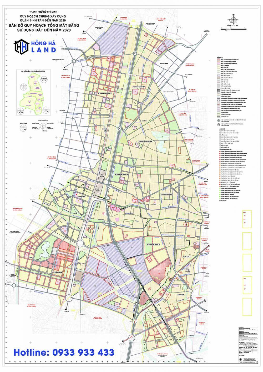 Bản đồ quy hoạch Quận Bình Tân mới nhất 2020