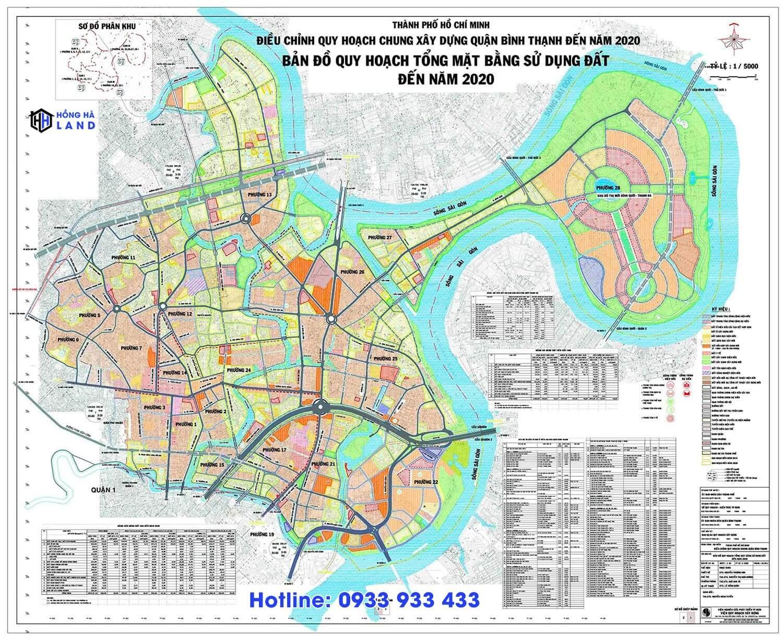 Bản đồ quy hoạch Quận Bình Thạnh mới nhất 2020
