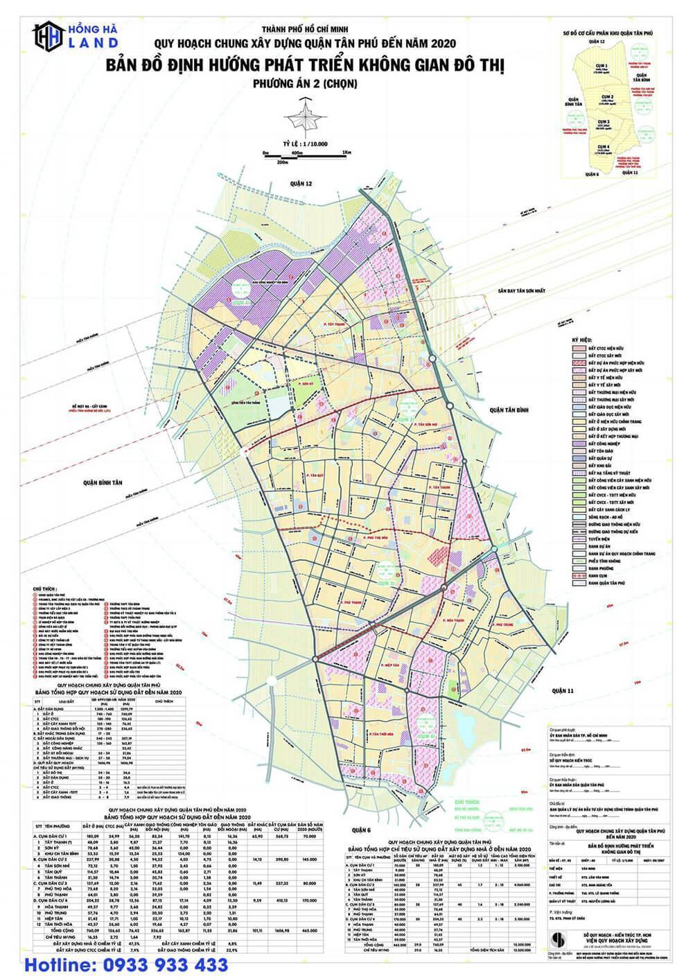 Bản đồ quy hoạch Quận Tân Phú mới nhất 2020