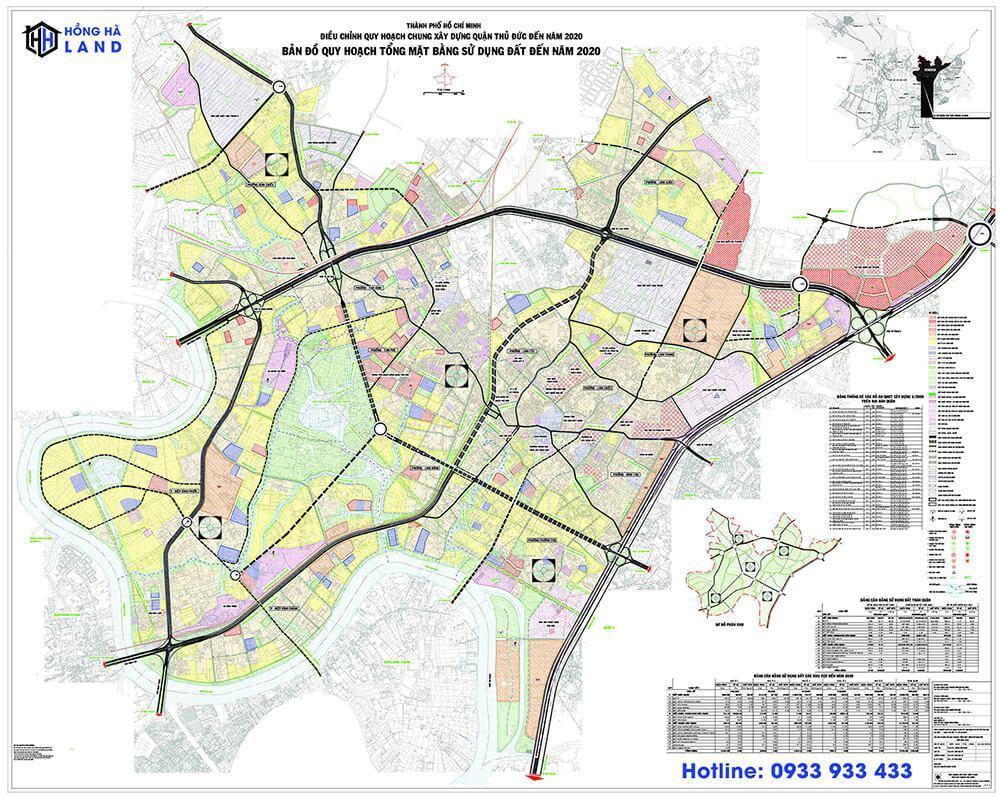 Bản đồ quy hoạch Quận Thủ Đức mới nhất 2020