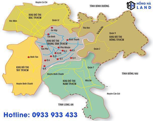 Bảng đồ khu đô thị TP.HCM