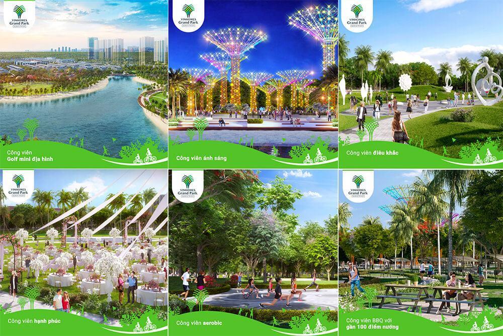 Hệ thống công viên chủ đề tại Vinhomes Grand Park