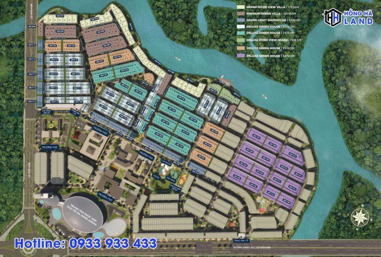 Mặt bằng phân bổ sản phẩm tại phân khu Valencia Aqua City