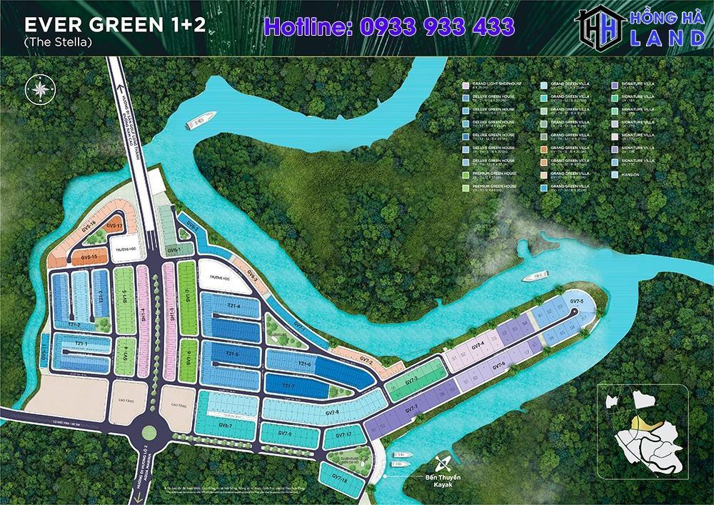 Mặt bằng phân khu Ever Green 2 Aqua City
