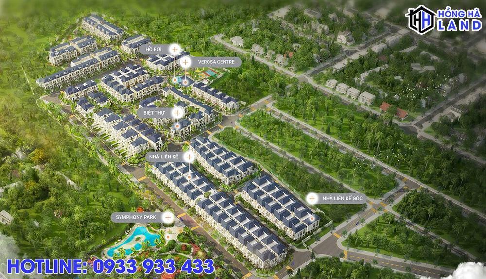 Mặt bằng tổng thể dự án Verosa Khang Điền