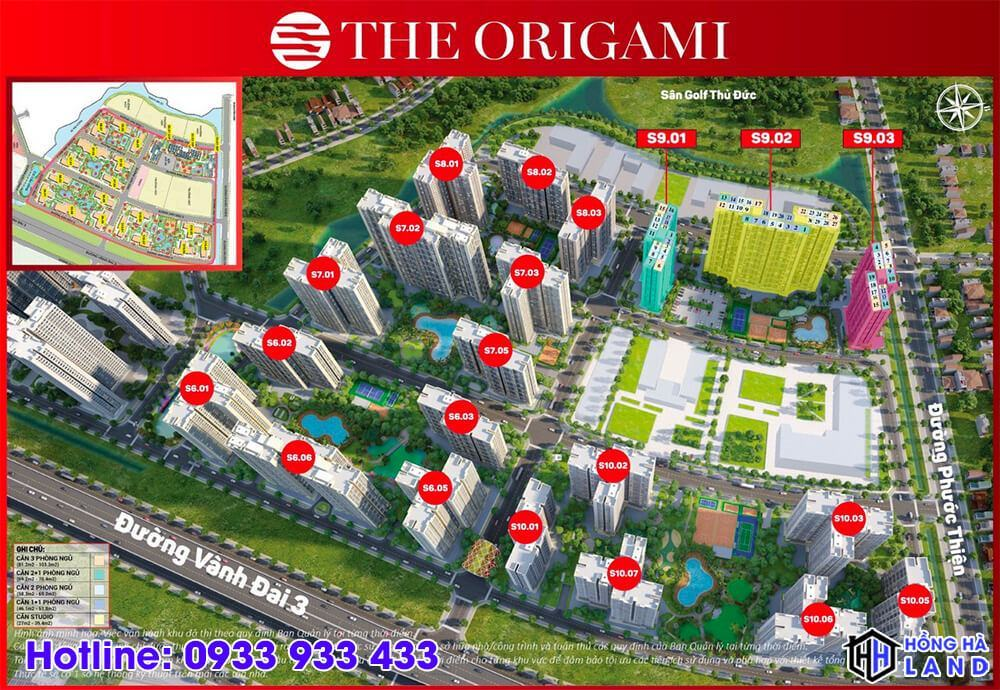 Phân khu cao tầng The Origami
