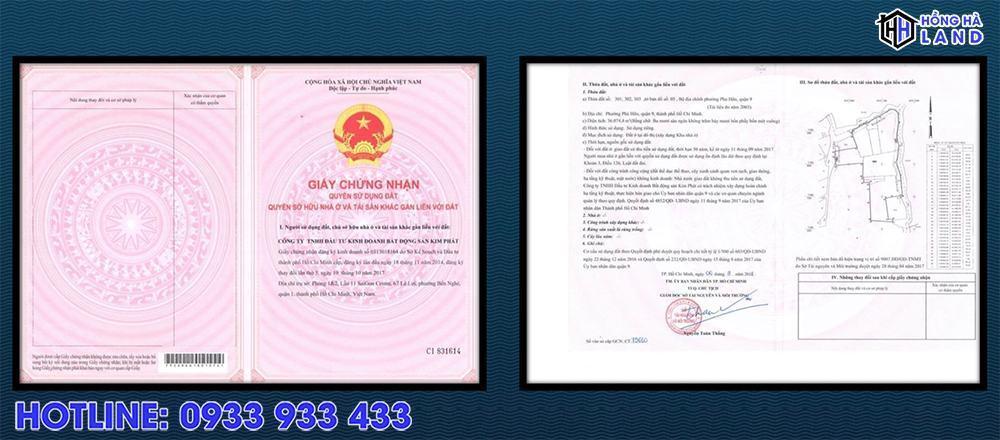 Sổ đỏ khu The Garden của khu biệt thự Verosa Khang Điền