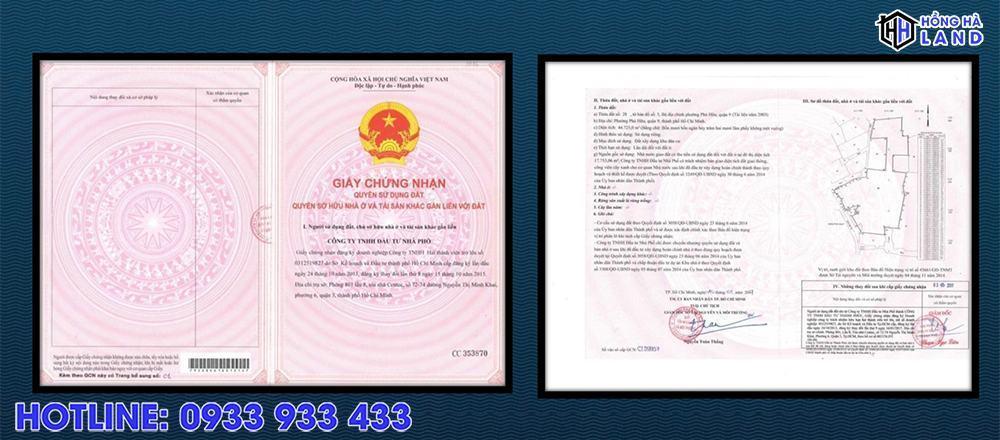Sổ đỏ khu The Green của khu biệt thự Verosa Khang Điền