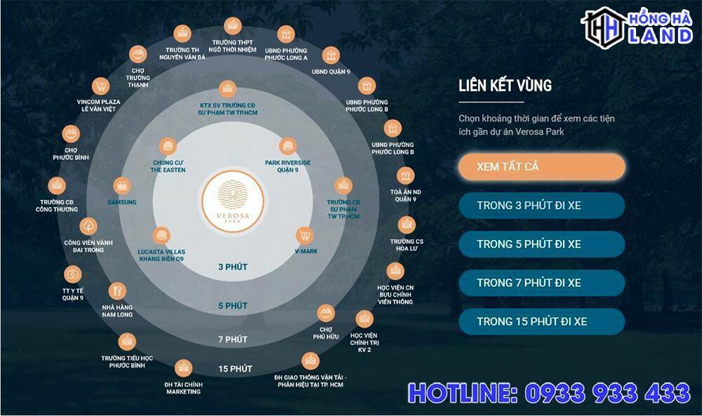 Tâm điểm kết nối vùng dự án biệt thự Verosa Khang Điền