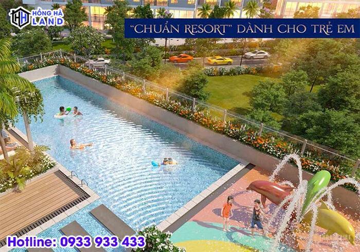 Tiện ích hồ bơi trẻ em tại dự án