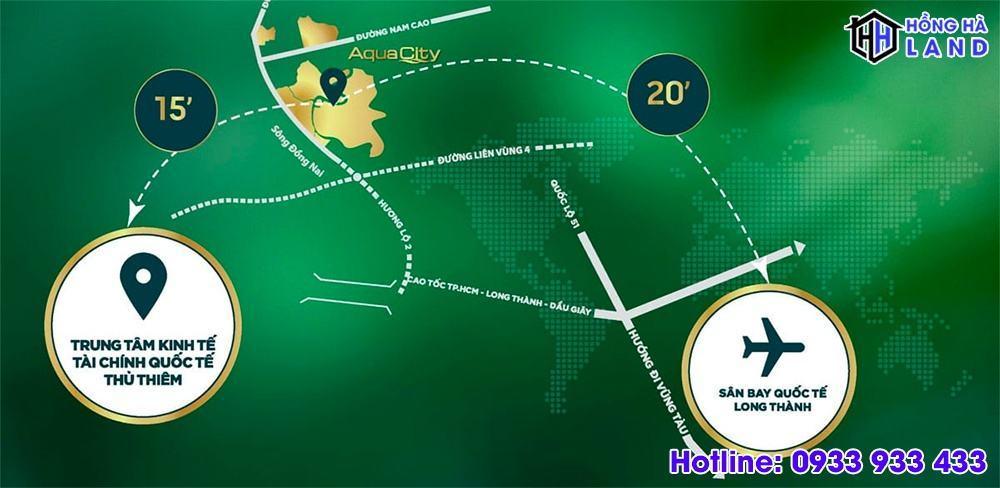 Đánh giá vị trí phân khu Đảo Phượng Hoàng Aqua City