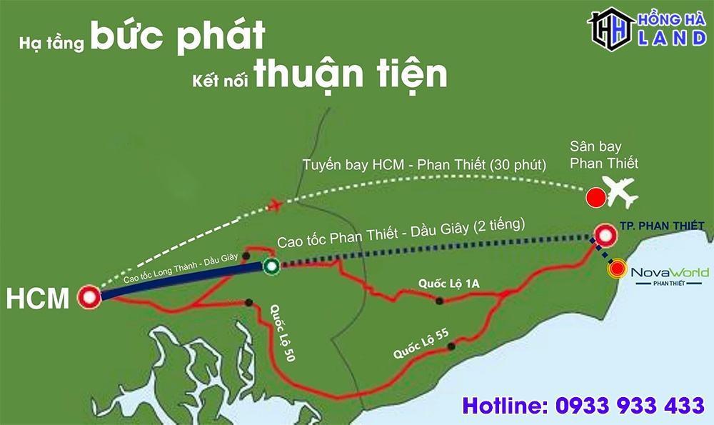 Hạ tầng kết nối thuận tiện đến dự án Novaworld Phan Thiết