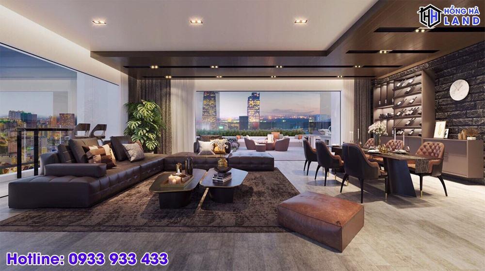Hình ảnh nhà mẫu phòng khách The Grand Manhattan Quận 1