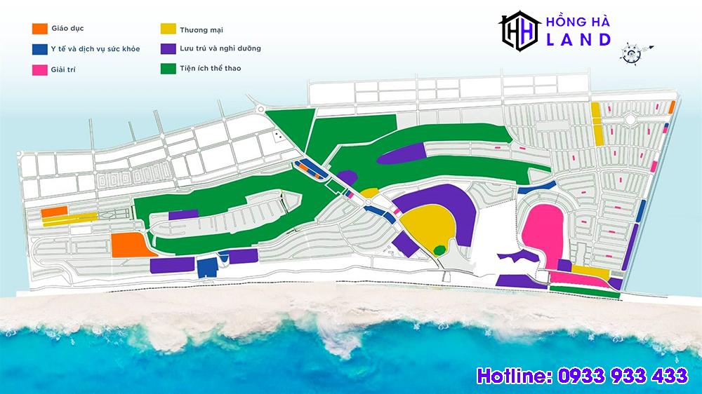 Mặt bằng tổng thể các phân khu đang mở bán tại Novaworld Phan Thiết