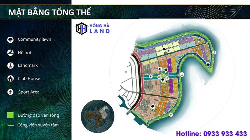 Mặt bằng tổng thể phân khu Phoenix South Aqua City