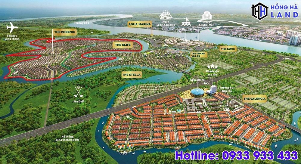 Vị trí phân khu đảo phượng hoàng Aqua City