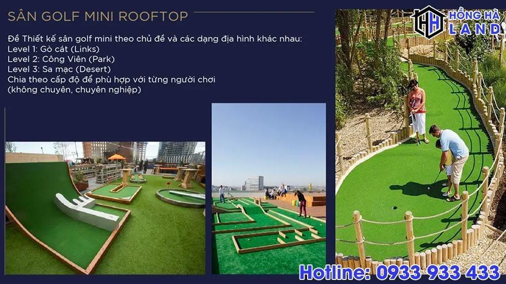 Sân Golf mini tầng mái - Sunshine Quận 10