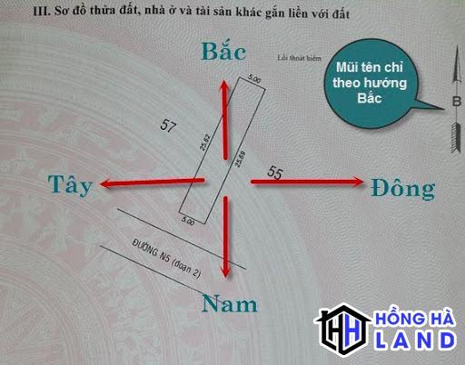 Sử dụng bản vẽ bản đồ để xác định hướng nhà