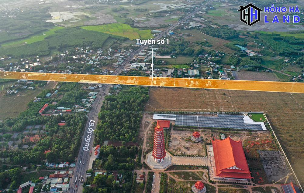 Tuyến đường số 1 dẫn vào sân bay Long Thành Đồng Nai