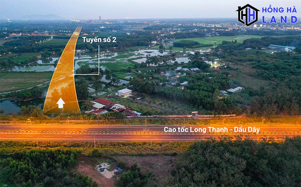Tuyến đường số 2 tiếp nối tuyến đường số 1 kết nối cao tốc Long Thành - Dầu Giây