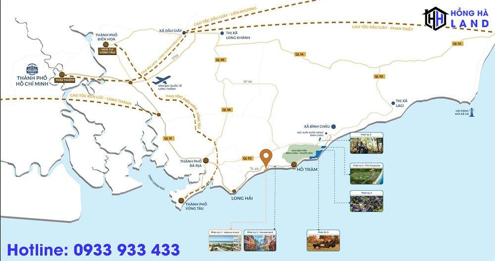 Vị trí Habana Island Novaworld Hồ Tràm